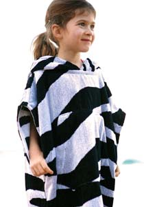 Girls Hooded Poncho